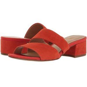 Franco Sarto Red Silas Strap Block Heel Sandals
